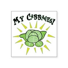 "my+cabbages Square Sticker 3"" x 3"""