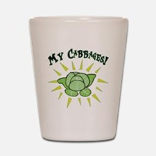 my+cabbages Shot Glass