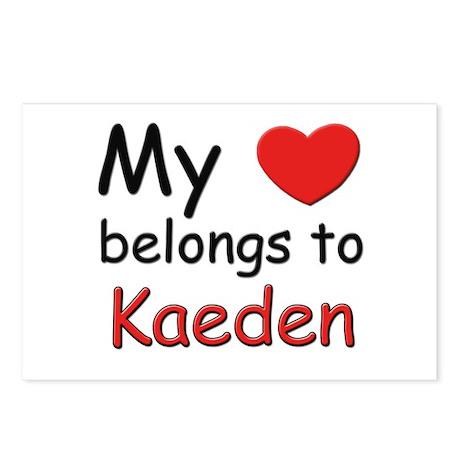 My heart belongs to kaeden Postcards (Package of 8