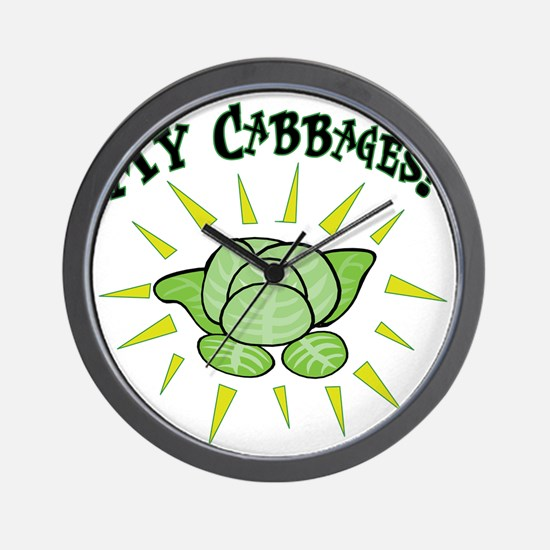 my+cabbages Wall Clock