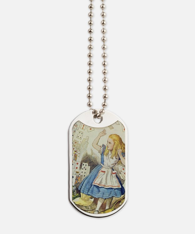ALICE The Shower of Cards  Illustration f Dog Tags