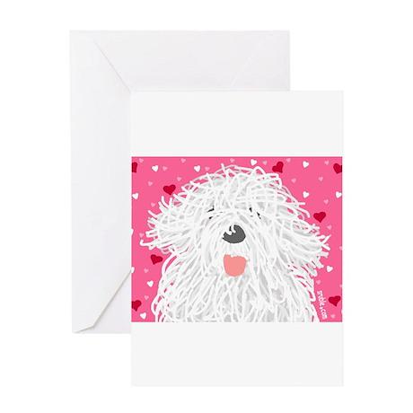 Heart Sheepdo Greeting Cards