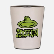 condom_happen_left_green Shot Glass