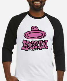 condom_happen_left_pink_clock Baseball Jersey