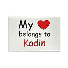 My heart belongs to kadin Rectangle Magnet