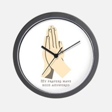 Praying hands Wall Clock