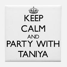 Keep Calm and Party with Taniya Tile Coaster