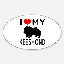 I Love My Keeshond Decal