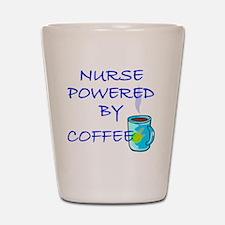 POWERED BY COFFEE NURSE 1 Shot Glass