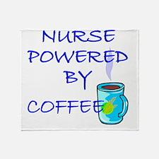 POWERED BY COFFEE NURSE 1 Throw Blanket
