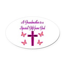 BLESSED GRANDMA Oval Car Magnet
