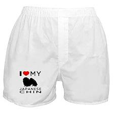 I Love My Japanese Chin Boxer Shorts