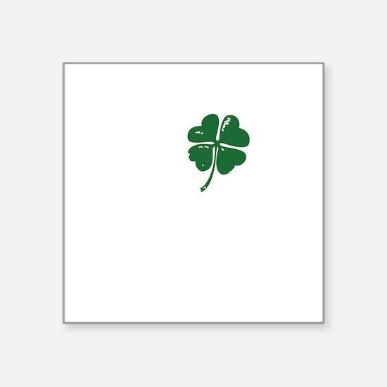 "Shamrock heart Square Sticker 3"" x 3"""