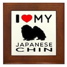 I Love My Japanese Chin Framed Tile