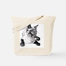 2-Siamese_NotecardHoriz Tote Bag