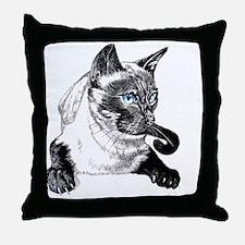 2-Siamese_NotecardHoriz Throw Pillow