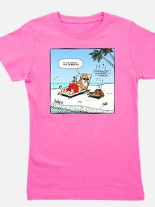 Santa on the Beach Final Girl's Tee