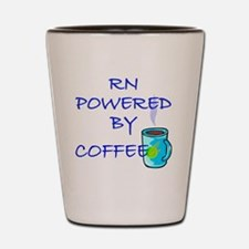 POWERED BY COFFEE RN 1 Shot Glass