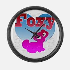 2-foxyb Large Wall Clock