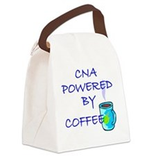 POWERED BY COFFEE cna1 Canvas Lunch Bag