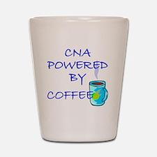 POWERED BY COFFEE cna1 Shot Glass