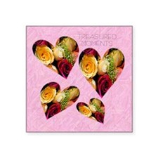 "2-roses KEEPSAKE BOX Square Sticker 3"" x 3"""