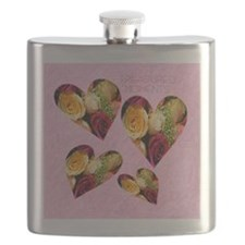 2-roses KEEPSAKE BOX Flask