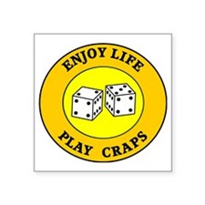 "craps3 Square Sticker 3"" x 3"""