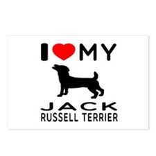 I love My Wire Fox Terrier Postcards (Package of 8