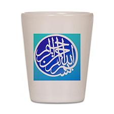 2000px-Bismillah_white_on_blue4 Shot Glass