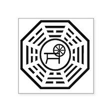 "dharmaspinning Square Sticker 3"" x 3"""