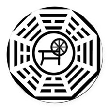 dharmaspinning Round Car Magnet