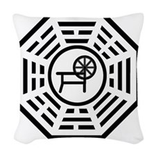 dharmaspinning Woven Throw Pillow