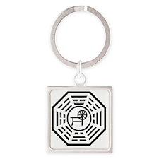 dharmaspinning Square Keychain