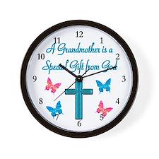 CHERISHED GRANDMA Wall Clock