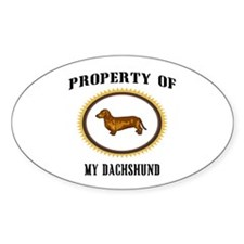 Property of Dachshund Oval Decal