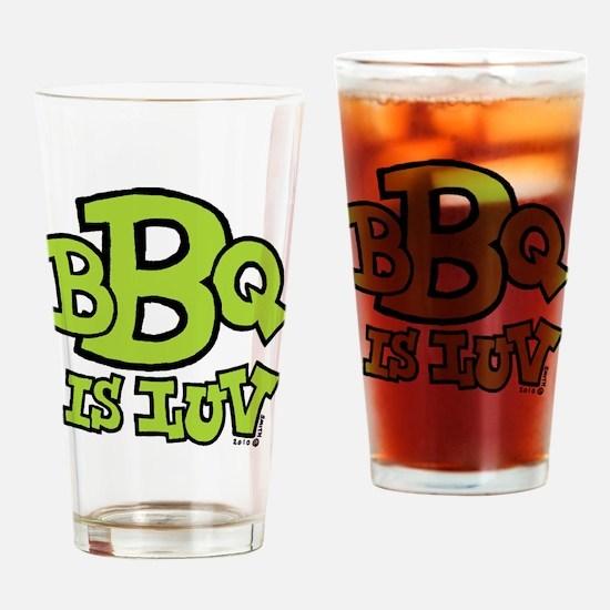 bbqisluv_GREEN Drinking Glass