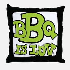 bbqisluv_GREEN Throw Pillow