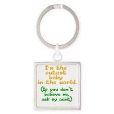 cutest-baby-aunt Square Keychain