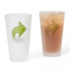 Right Green Arrow Drinking Glass