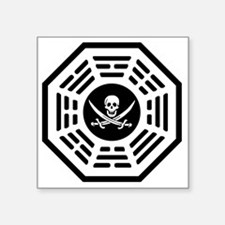 """Dharma_Pirate_notext Square Sticker 3"""" x 3"""""""