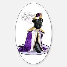 Black Labrador Prince Oval Decal