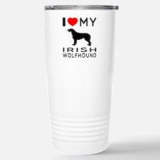 I Love My Irish Wolfhound Travel Mug