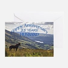 25th Anniversary for husband Greeting Cards