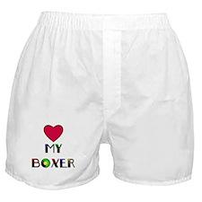 LOVE MY BOXER Boxer Shorts