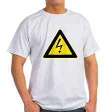 Electricity Warning Sign T-Shirt