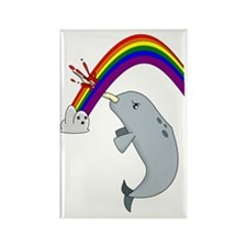 narwhal Rectangle Magnet