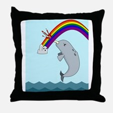 narwhalwider Throw Pillow
