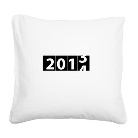 2013-to-2014 Odometer Square Canvas Pillow