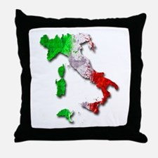 Italy Map Throw Pillow